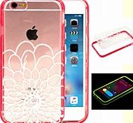2-in-1 heilige Blumenmuster tpu rückseitige Abdeckung mit pc Autostoßfest Hülle für iPhone 6 / 6S