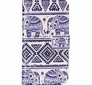 Elephant Painted PU Phone Case for Galaxy J1 Ace/J2/J1