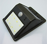 High Quality Solar 8 LED Light Waterproof Human Body Induction Lamp / Wall Lamp / Garden Courtyard Lamp