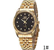 Herren Armbanduhr Simultan? Diamant Uhr Quartz Legierung Band Gold Golden 1 # 2 # 3 # Schwarz/Gold