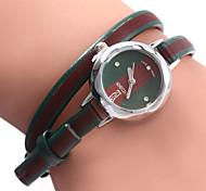 xicoo 472 mulheres de couro banda relógio de quartzo com diamantes longo