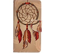 Orange Dreamcatcher Painted PU Phone Case for Huawei P8 Lite/P8