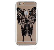 schwarze Schmetterlingsmuster transparent Telefonkasten rückseitigen Abdeckung für iphone6 plus / 6s Plus