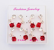 European And American Fashion Earrings Square (A Box Of Four Pairs)