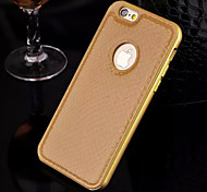 New Luxury  Football ProfileGenuine Leather Metal TPU Integrated Frame Case for Apple iPhone 6Plus/6S Plus