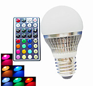 Bombillas LED de Globo Regulable / Control Remoto / Decorativa SchöneColors A50 B22 / E26/E27 4W 1PCS LED de Alta Potencia 300LM LM RGBAC