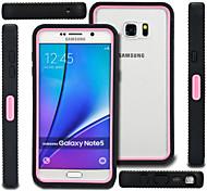 Para Samsung Galaxy Note Antigolpes / Transparente Funda Cubierta Trasera Funda Armadura Policarbonato Samsung Note 5