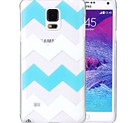Kinston® Green White Stripe Pattern TPU Soft Case for Samsung Galaxy Note 4 N9100