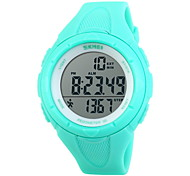 Unisex Pedometer LCD Digital Rubber Band Sports Watch