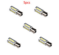 5pcs HRY® 6W 1156 5630 33SMD White Color Super Bright Tail Turn Car Light Bulb Lamp DC12V