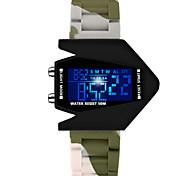 creativas camuflaje aviones personalidad reloj llevado de moda para hombres y mujeres estudiantes de vigilancia electrónica resistente al