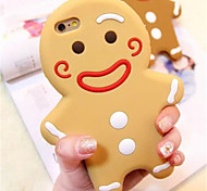 Natale panpepato stile cartoon uomo in silicone posteriore Case for iPhone 6 / 6s più 5.5 (colori assortiti)