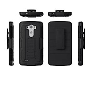 3 in 1 Impact Black Armor Hybrid Case With Belt Swivel Clip Stand for LG G3/G4
