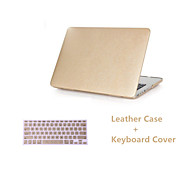 "Luxury Hard Case Silk Pattern Leather Cover Snap-on Shell Protective Skin+Keyboard Cover  for Macbook Air 11""/13"""