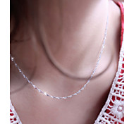 925 Fine Silver Plated Chain Necklace (Length:46cm)