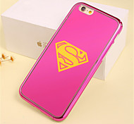 Pink S Flag Pattern Plating TPU Phone Case for iPhone 5/5S