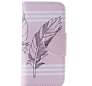 The New Feather PU Leather Material Flip Card Cell Phone Case for iPhone 5 /5S