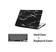 "New Super Cool Black Marble Rubberized Hard Case  Cover + Keyboard Cover for Macbook Air 11""/13"""
