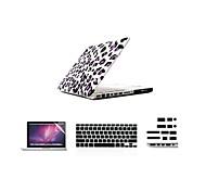"""4 in 1 Plastikabdeckungsfall + Tastatur-Abdeckung + Schutzstaubstecker für MacBook Pro / 13 """"/ 15"""""""