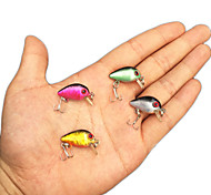 Lot 4 Mini Crank Bronzing Fishing Lures CrankBait Floating Rattles 2.8cm 1.1inch 1.7g