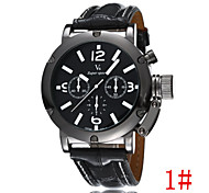 Domineering Men Classic Casual Sports High-Quality Leather Watch Big Dial Cool Watch Unique Watch