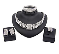 New fashion trendy gold plated (necklace,bracelet,ring,earrings)jewelry sets