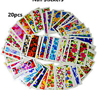 20pcs Flowers Series Nail Sticker Random Color