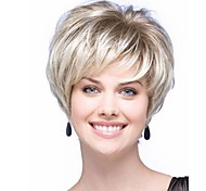 New Arrival Fashion Blonde White Wig Short Straight Woman's Synthetic Wigs Hair Wig for Daily
