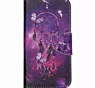 Purple Dreamcatcher Painted PU Phone Case for Galaxy J5