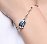 925 Sterling Silver Heart Love Bracelet