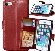 PU cuir carte portefeuille titulaire de luxe reposer le couvercle rabattable avec étui de cadre photo pour l'iphone 5 / 5s (couleurs