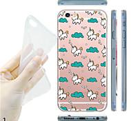 для счастливой жизни мягкой прозрачной TPU iphone 7 maycari® единорога назад чехол для iphone 6с 6 плюс