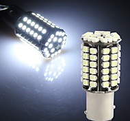 2 x 1157 BA15D 80 LED 3528 SMD White Car Tail Parking Stop Light Bulb Lamp