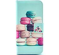 Для Кейс для iPhone 5 Кошелек / со стендом / Флип Кейс для Чехол Кейс для Мультяшная тематика Твердый Искусственная кожа iPhone SE/5s/5