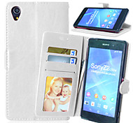 Crazy Horse PU Leather Stand Case Cover with Card Slots for Sony Xperia Z2 D6502 D6503 D6543 (Assorted Colors)