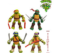 New 4 Pcs/Set 12cm TMNT Teenage Mutant Ninja Turtles Action Figure Anime Model PVC Classic Toys For Kids Collection