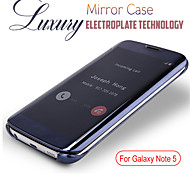 Luxury Clear Mirror Smart Sleep View Window Flip Cover Case For Samsung Galaxy Note 5