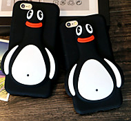 The New Three-Dimensional Black Penguins  Green Silicone Phone Case for iPhone 5 /5S