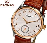 EASMAN Watch Women Quartz Watch 2015 New Rose Gold Wristwatches Fashion Genuine Leather Sapphire Ladies Watches