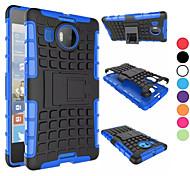 2 in 1 caso a due colori staccabile tpu + pc ibrido con kickstand per Nokia Lumia 950xl (colori assortiti)