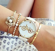Fashion Women'S Watches Bicycle Bracelets Analog Quartz Watches (Assorted Colors)