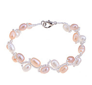 Fashion Exquisite Natural Pearls Weave Branch Bracelet