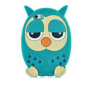 2015 Hot Fashion Luxury 3D Cute Owl Face Silicone Back Phone Case Cover for iPhone 5/5S