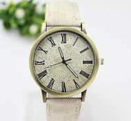 Ladies' Round Dial Denim Band  Fashion Analog Quartz Wrist Watch