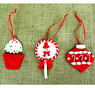 Soft Candy And Lights The Christmas Ornaments 3 Pieces