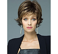 Blend Color Short Synthetic Hair Wave Wigs