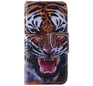 The New Tiger PU Leather Material Flip Card Cell Phone Case for iPhone 6 /6S
