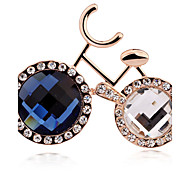 The High-End Brand Bicycle Bicycle Diamond Brooch