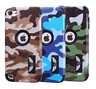 Special Design Novelty Wood Grain Silicone PC Back Case Camouflage Color for Touch 6 (Assorted Colors)