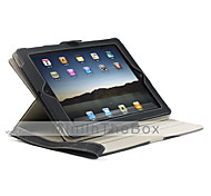360 Degree Rotation Protective PU Leather Case with Car Mount Strap for iPad 2